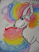 Epic Rainbow Lion by Kyrifian