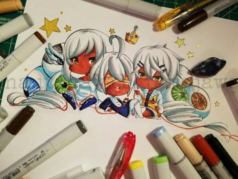 Chibi Sisters by NauticaWilliams