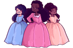 .:FREE TO USE:. The Schuyler Sisters page dolls by Hashiero