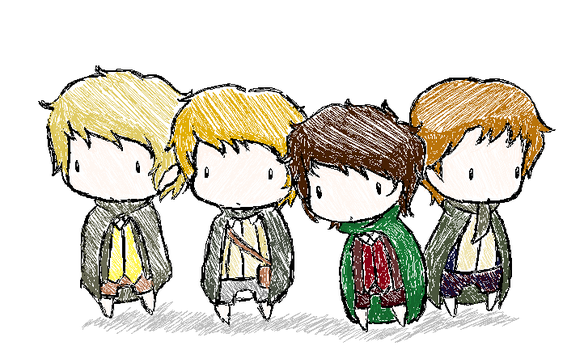 Hobbits. by LadyxOwl
