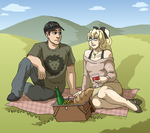 Commission - Picnic by ErinPtah
