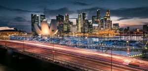 Singapore from Sheares Ave. by palmbook
