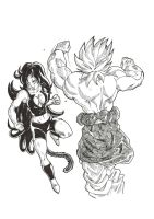 Mia vs Broly by Blood-Splach