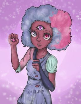 Garnet Cotton Candy  - Steven Universe Fan Art by SonOfAtom101