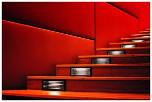 Red Stairs by fxseven