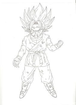 Son Goku Jr. Super Saiyano by Hector444