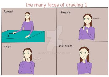 The Many Faces Of Drawing by LuckyEP