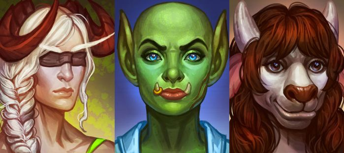 Portraits by Soleilloo