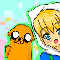 Finn and Jake by amuletshugo