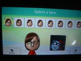 Harley Quinn according to Mii Maker (Wii U) by jakelsm