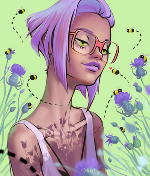 Bees by katyillustrates