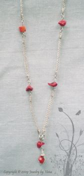 Coral necklace by VanaJewelry