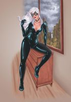 Black cat by Artdevangins