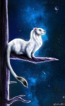 Ermine Guardian by KhaliaArt