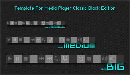 Toolbar Template for MPC-BE by Nighted