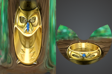 Ring of Owl by AnaDrawApp