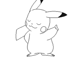 pikachu lineart 8 by michy123