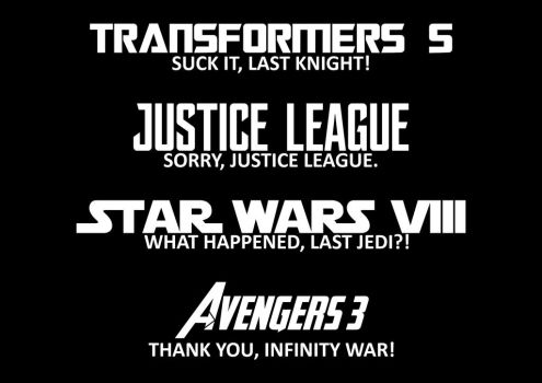 Big movie franchises today in a nutshell (READ) by JMK-Prime