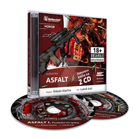 CD cover and CD design for horror book - Asphalt by petrsimcik