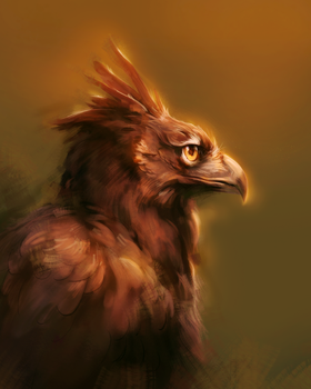 Crested Eagle by CorvusHound