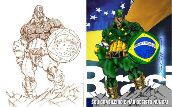 Captain South America Vandalo by Wolf-Signs