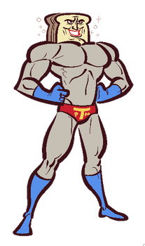 FANART: Powdered Toast Man by Cubesona