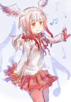 Crested Ibis by SFrostWing