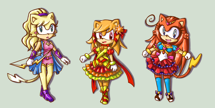 Sonichu RPG Concept-More Girls by Dj-Mewmew