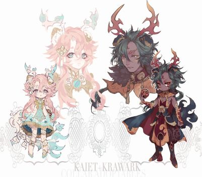 Collab Adoptables Auction (CLOSED) by Kaiet