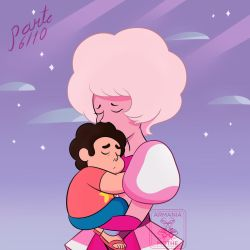 Pink Diamond and Steven Universe by ArmaniaMothe