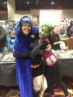 WinterCon 2016: Raven and Beast Boy by ShawnAtkinson