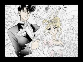 I colored Mamoru and Usagi by strtrknaxdunivrs