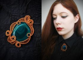 Agate Pendant by diana-irimie