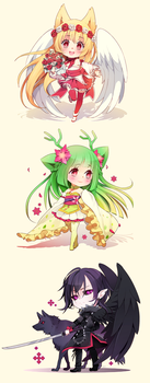 Chibis [01] by ikr