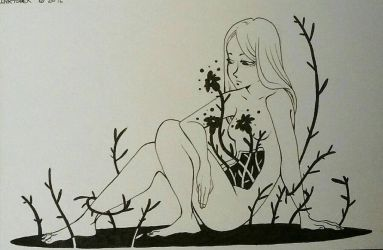 Inktober 10 : it just grows inside you  by thesixthstop