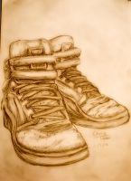 sketch of shoes by The-Masa