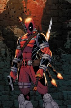 Deadpool Colored by CliffEngland