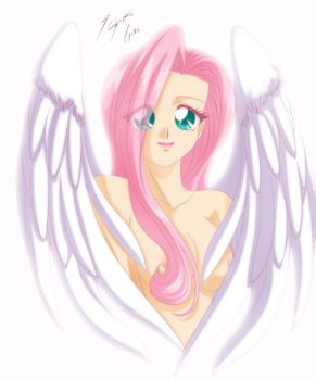 Fluttershy - My Angel - Color by Shinta-Girl