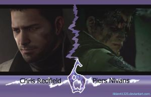Chris Redfield and Piers Nivans by illdan41325