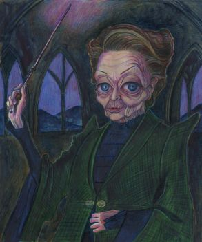 Professor McGonagall by Caricature80