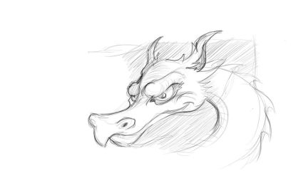 Dragon Sketch by garald4