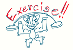 EXERCISE!! goat by DragonWolfGirl2
