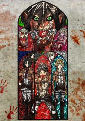 Attack on Titan Inspired Stain glass by CharlotteFranks
