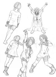 Various Videl Sketches - Other by dougurasu