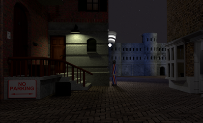 Alleyway at night (3d scene) by dvda92
