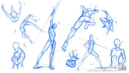 Tutorial Character Poses Fight On Drawing Tutorial Deviantart