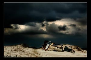 Death on the beach by gilad