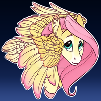 Fluttershy Button Design by turnipBerry