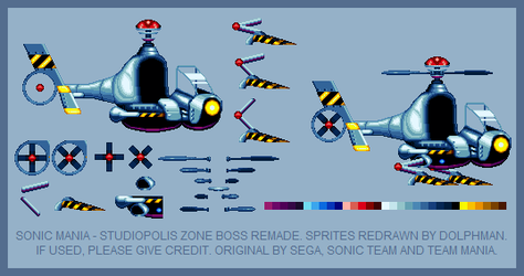 Sonic Mania - Egg Helicopter (REMADE) by retrobunyip