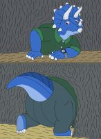 Tops is stuck in the tunnel by MCsaurus